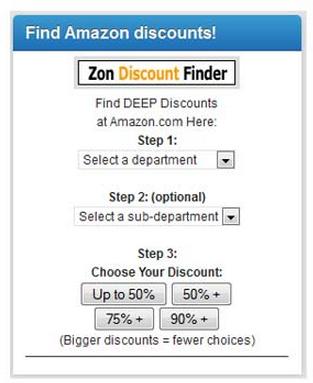 zon discount finder